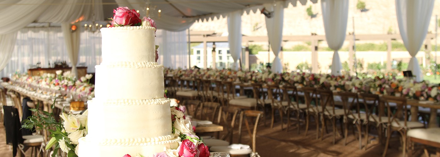 Canyon Catering Wedding Cake in Orange County