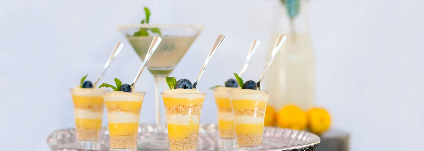 Lemon Drop Dessert Shot Unique Event Catering