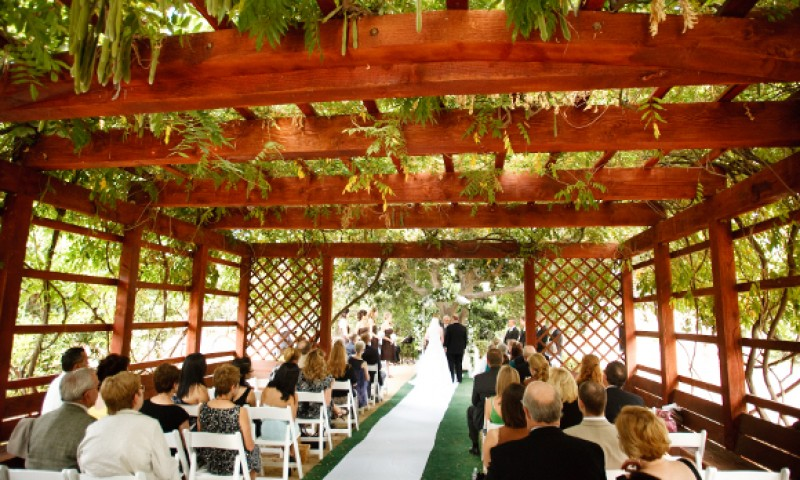 Wedding at Fullerton Arboretum Catered by Canyon Catering